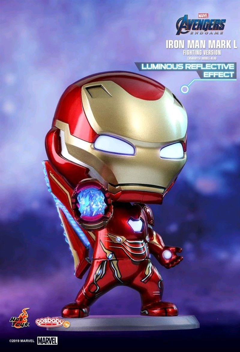 Avengers 4: Endgame - Iron Man Mark L UV Effect Cosbaby | Merchandise