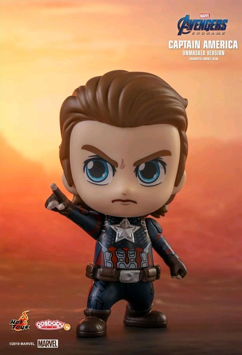 Avengers 4: Endgame - Captain America Unmasked Cosbaby | Merchandise
