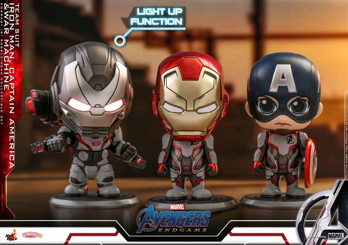 Avengers 4: Endgame - Iron Man, Captain America & War Machine Cosbaby Set | Merchandise