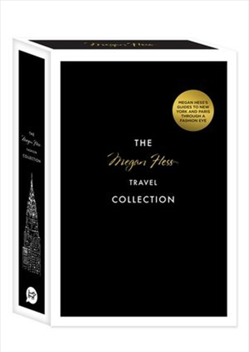 Megan Hess Travel Collection Including : New York, Paris, and Two Greeting Cards | Hardback Book