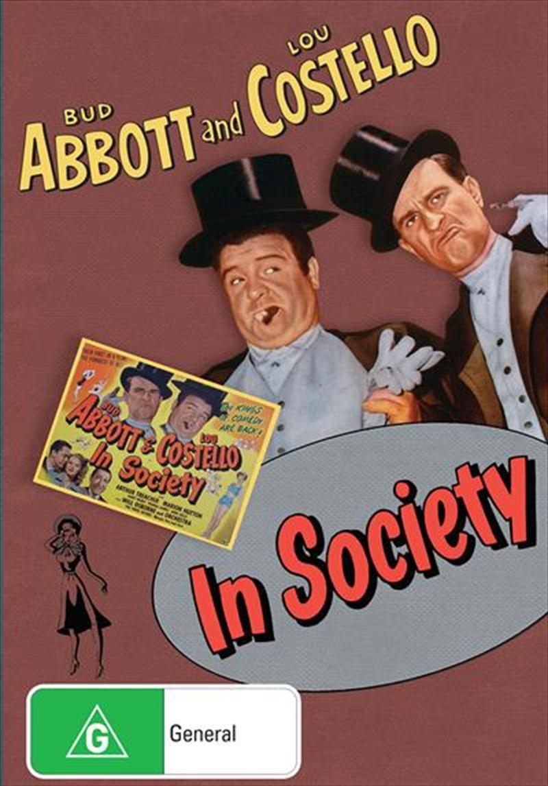 In Society   DVD