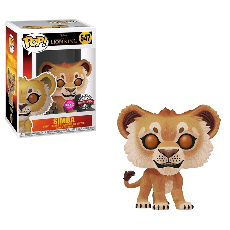 Lion King (2019) - Simba Flocked US Exclusive Pop! Vinyl [RS] | Pop Vinyl