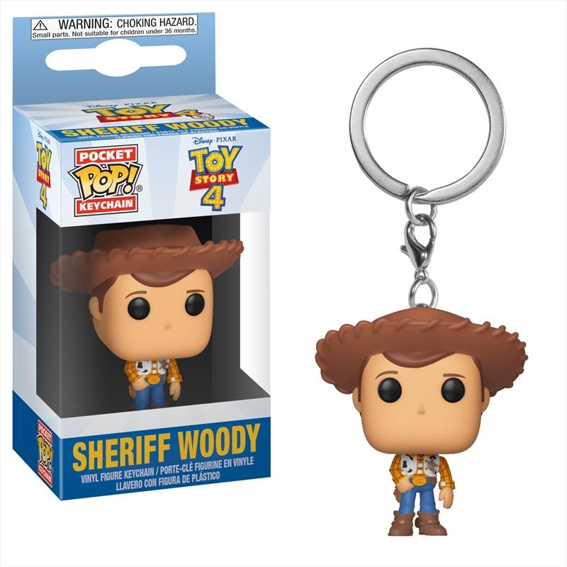 Toy Story 4 - Woody Pocket Pop! Keychain   Pop Vinyl