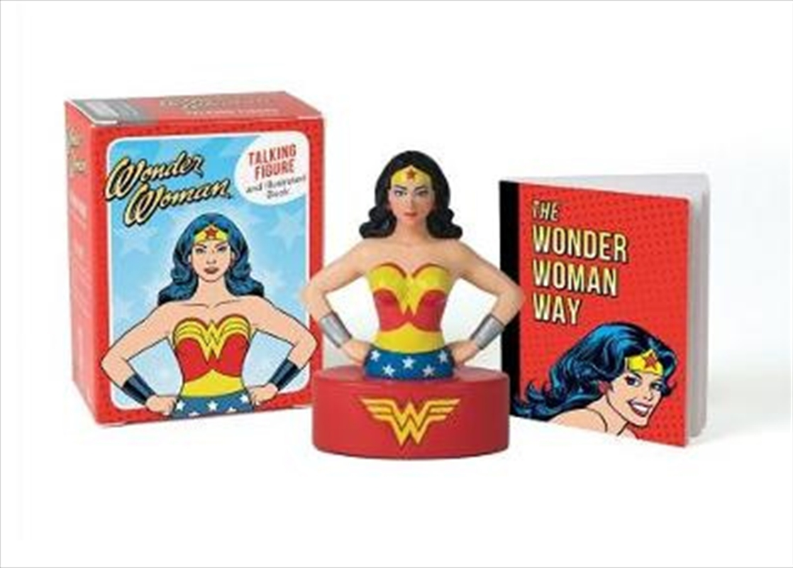 Wonder Woman Talking Figure and Illustrated Book   Merchandise