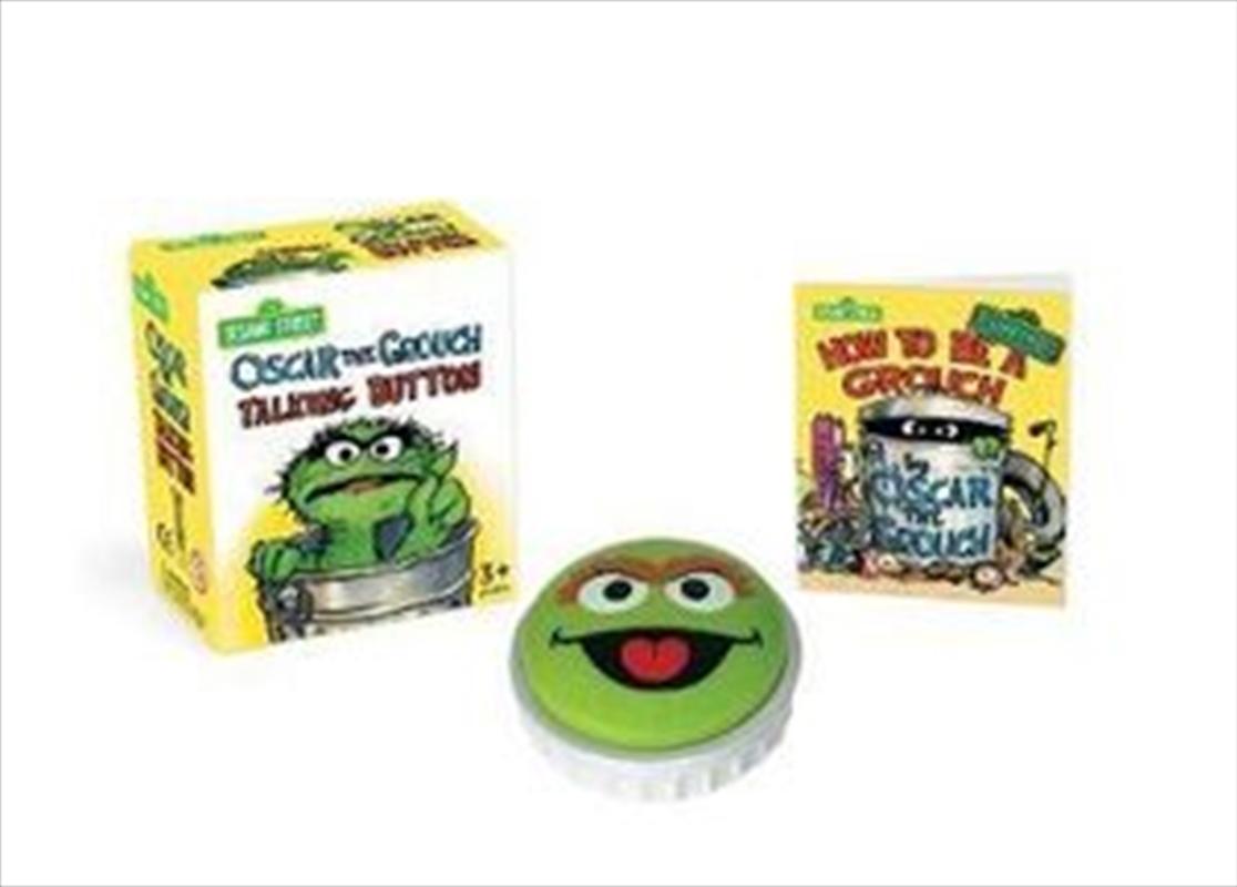 Sesame Street: Oscar the Grouch Talking Button   Merchandise