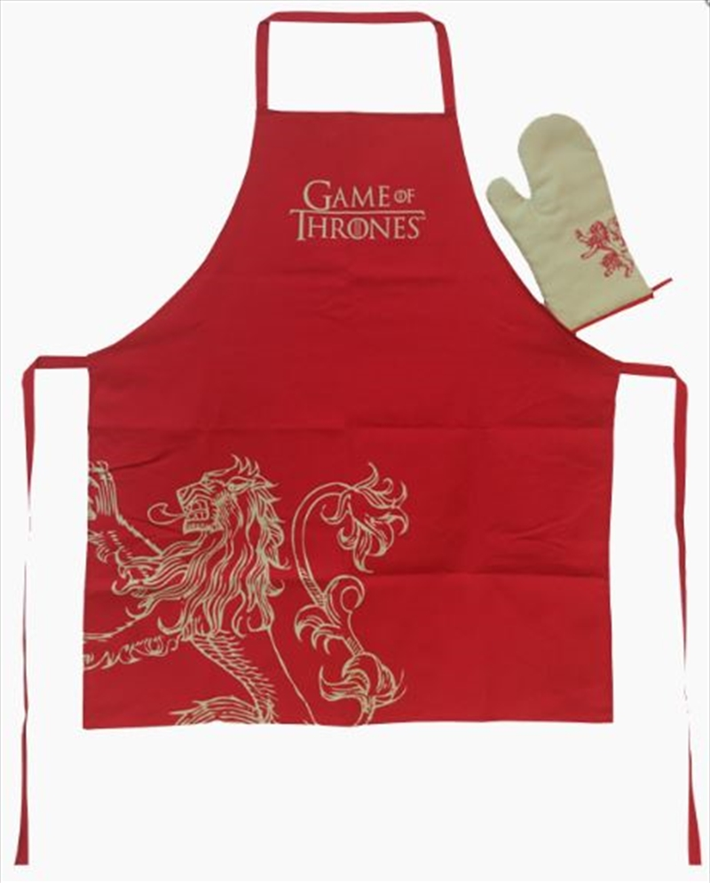 Game Of Thrones - Lannister Apron & Oven Mitt Set | Merchandise