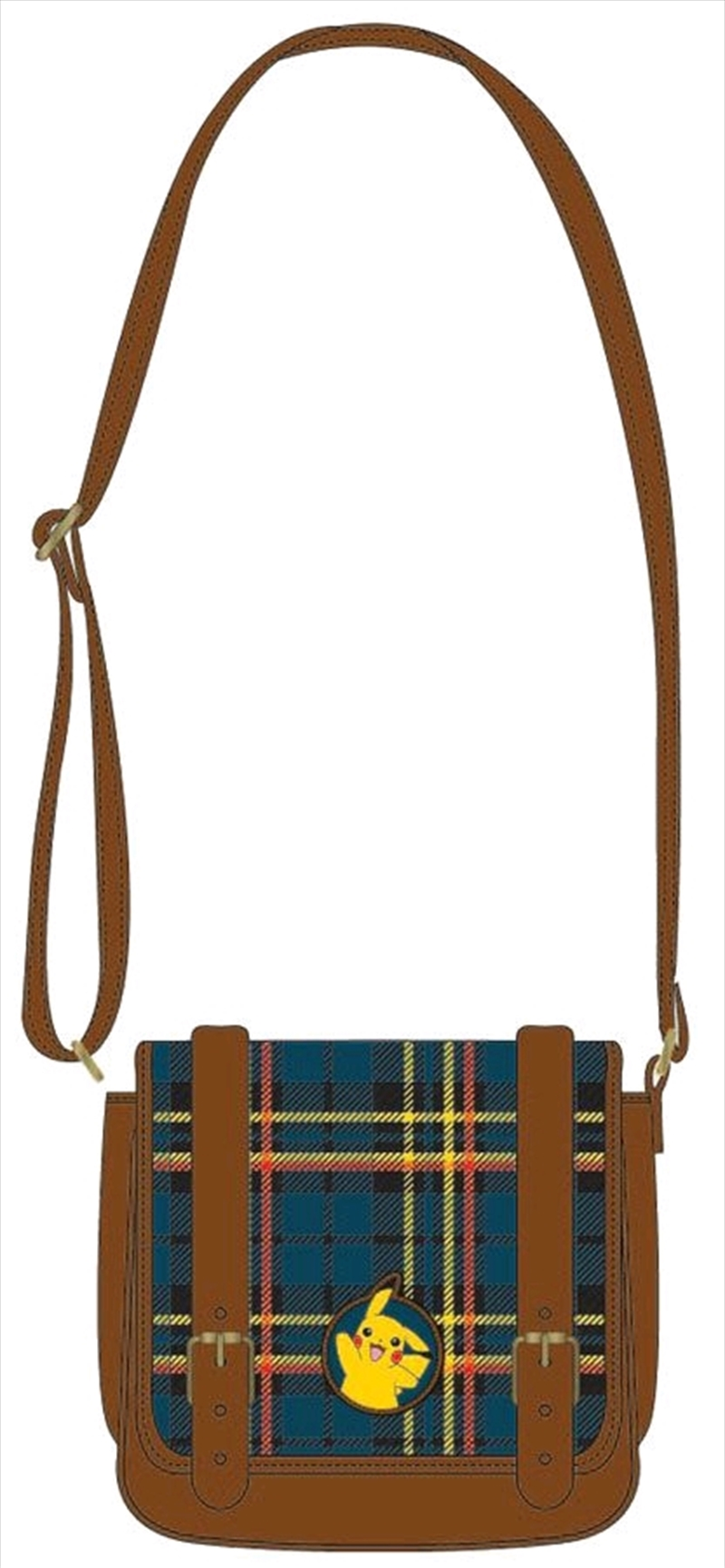 Pokemon - Pikachu Tartan Crossbody Bag | Apparel