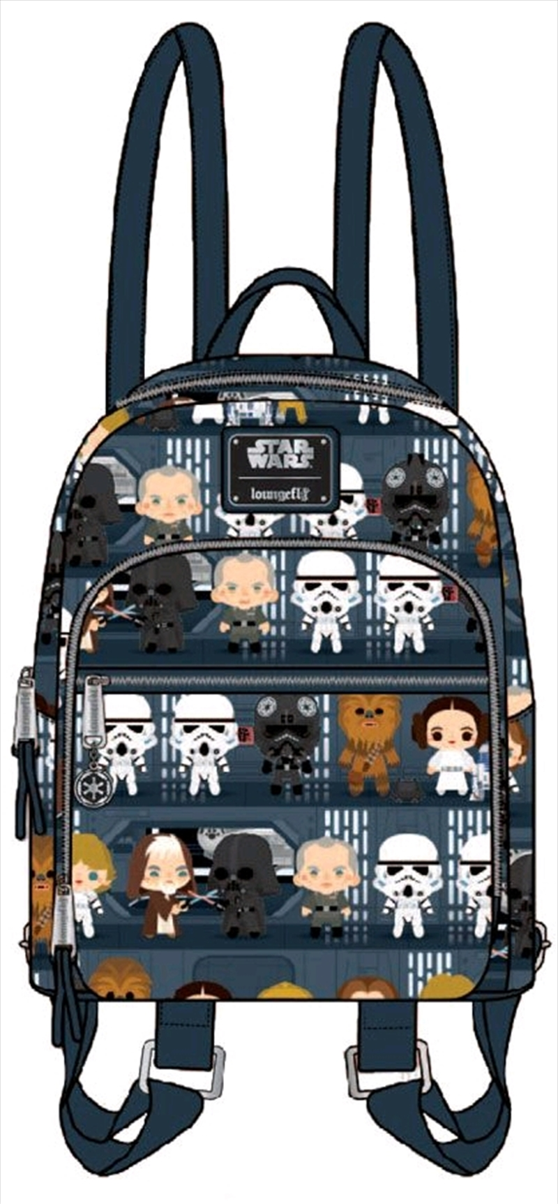 Star Wars - Death Star Chibi Print Mini Backpack   Apparel