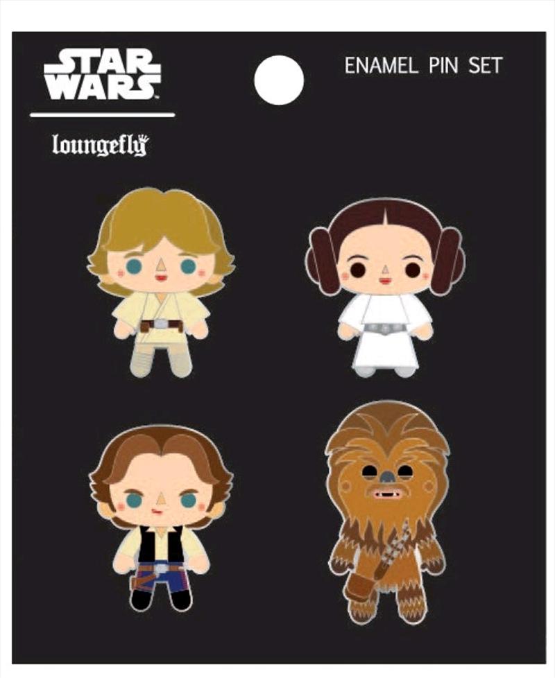 Star Wars - Chibi Enamel Pin 4-pack | Merchandise