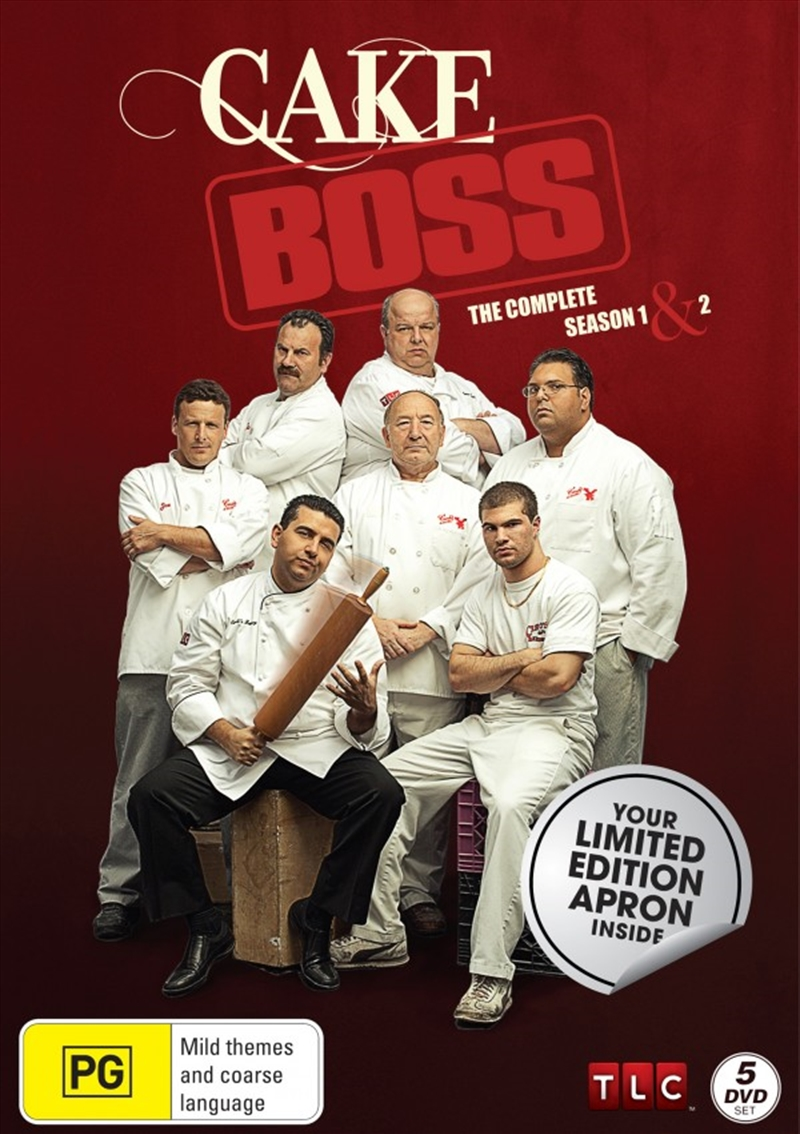 Cake Boss: Season 1-2 (Boxset Limited Edition Apron) | DVD