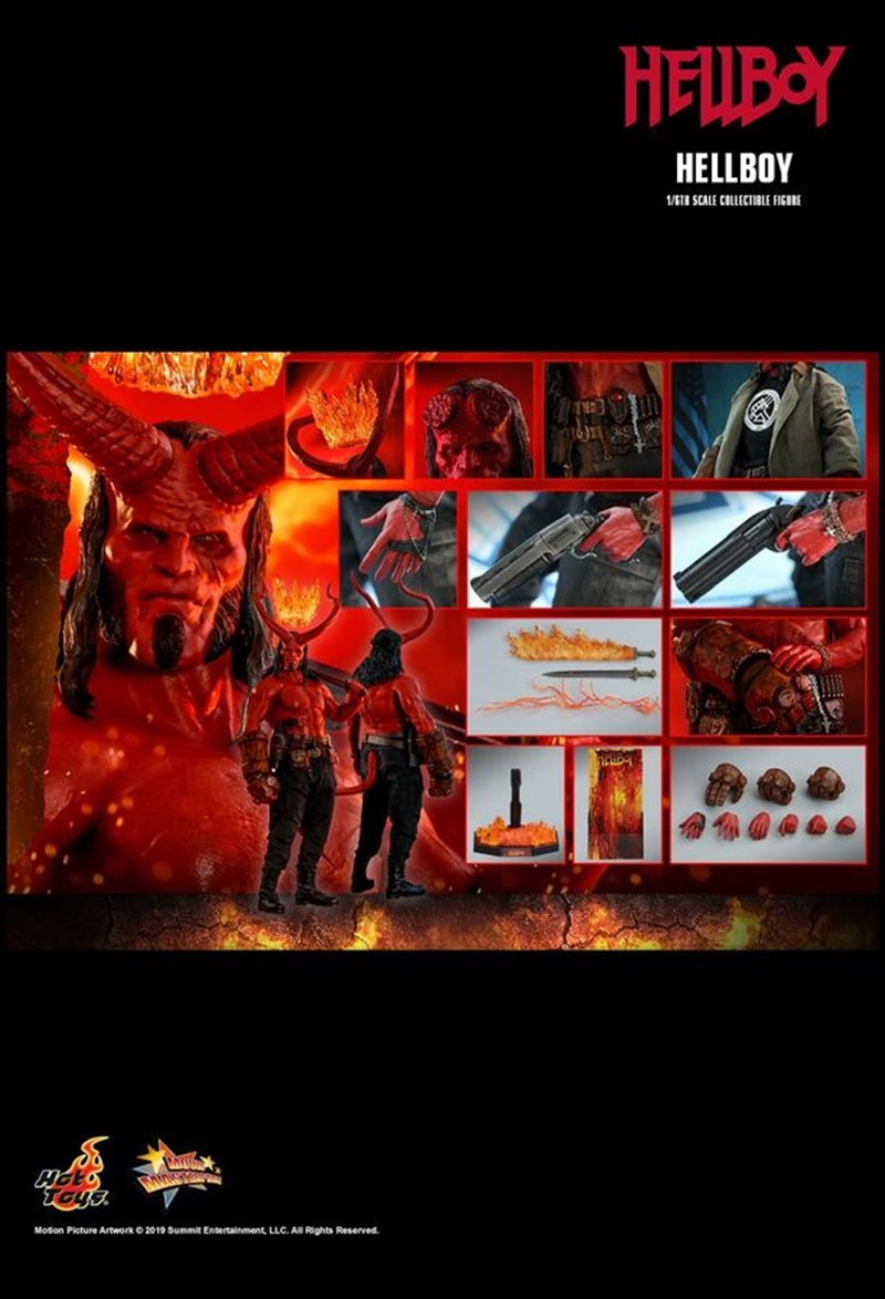 "Hellboy (2019) - Hellboy 12"" 1:6 Scale Action Figure | Merchandise"