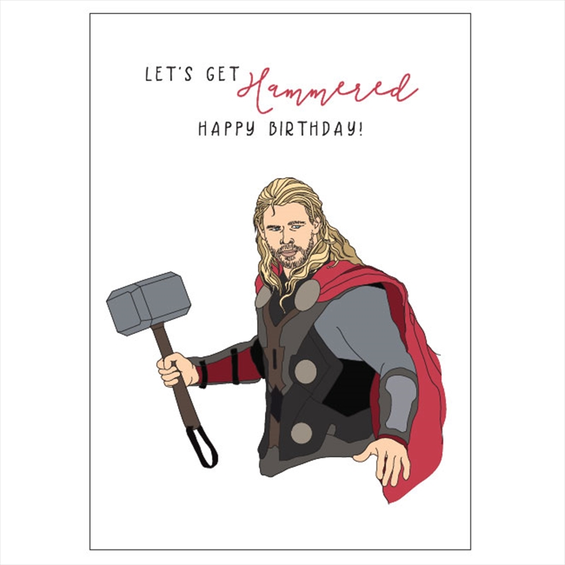 Birthday Card - Let's Get Hammered | Merchandise
