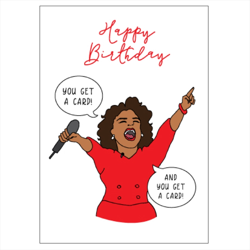 Birthday Card - You Get A Card | Merchandise