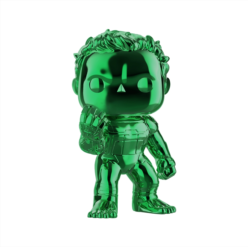 "Avengers 4: Endgame - Hulk Green Chrome 6"" US Exclusive Pop! Vinyl [RS] 