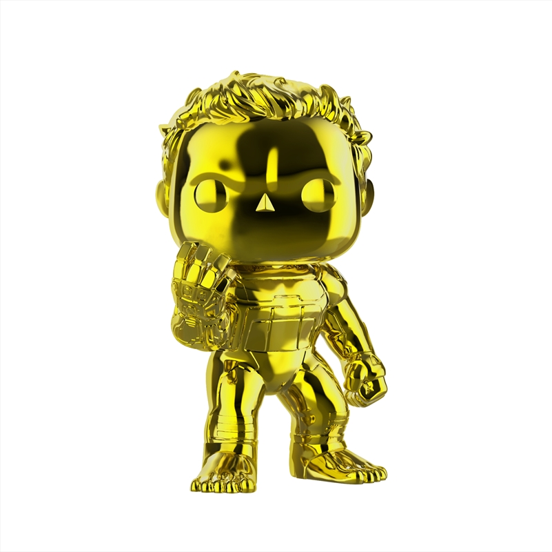 "Avengers 4: Endgame - Hulk Yellow Chrome 6"" US Exclusive Pop! Vinyl [RS] 