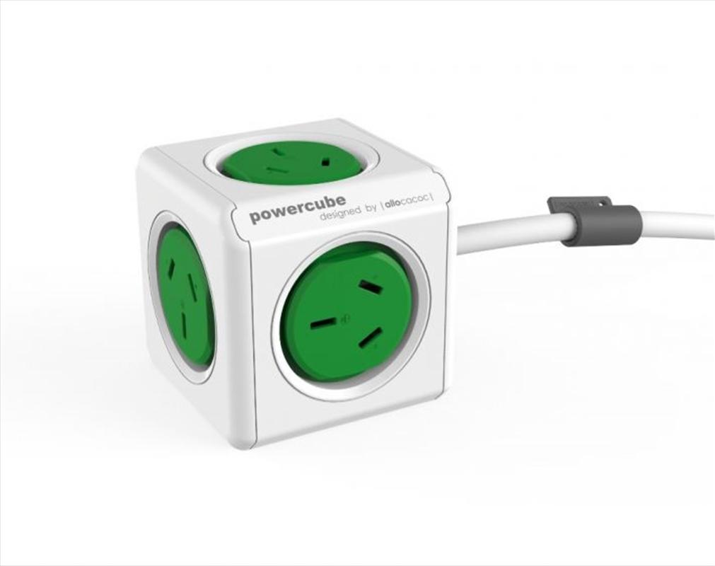 PowerCube  Extended 3.0m Surge - Green | Accessories