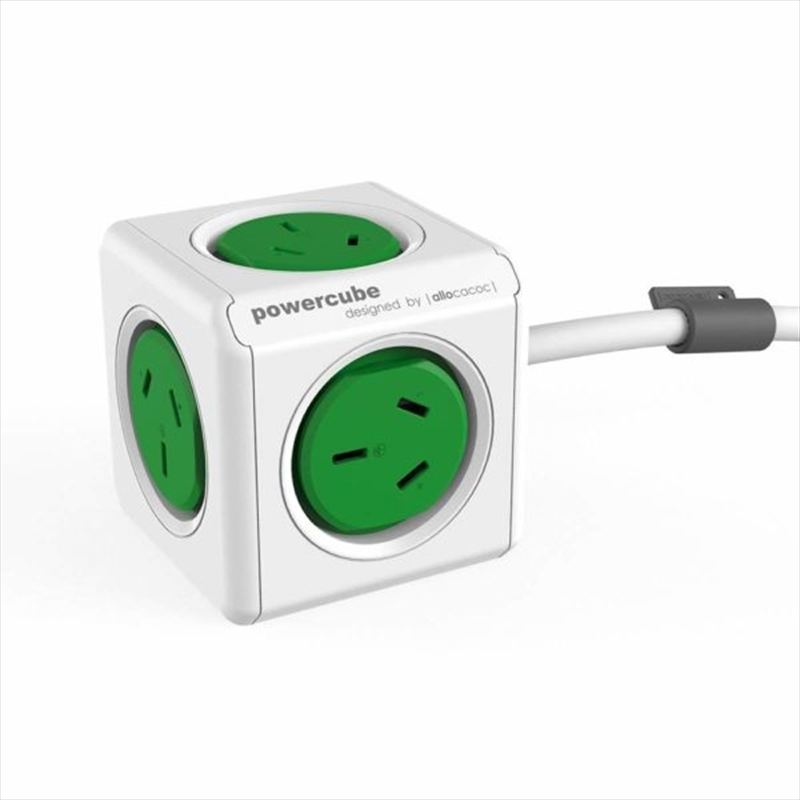 Powercube Extended 1.5m Surge - Green | Accessories