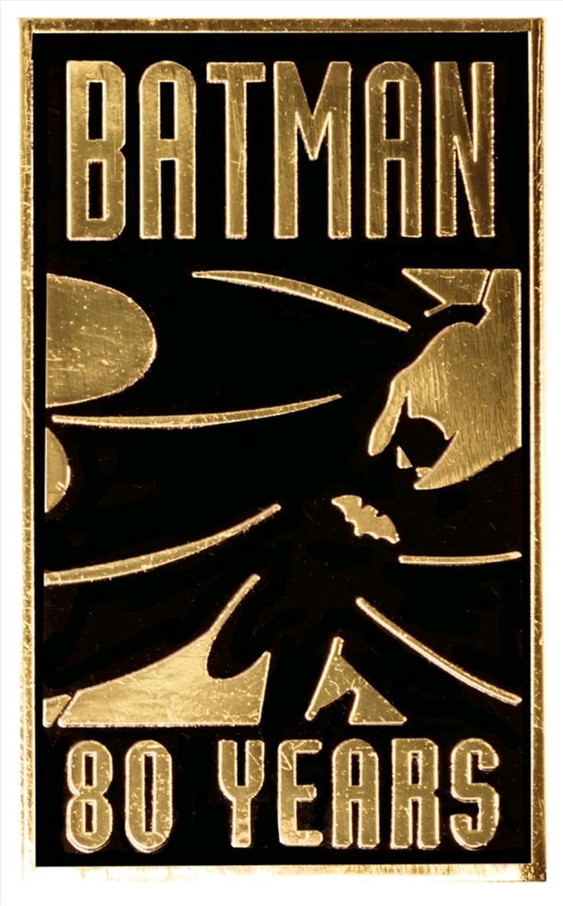 Batman - 80th Anniversary Gold Pin | Merchandise
