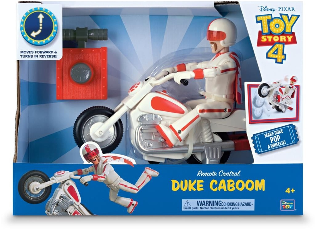 Toy Story 4 - Duke Caboom 8 Inch With Bike Deluxe Talking Toy | Toy
