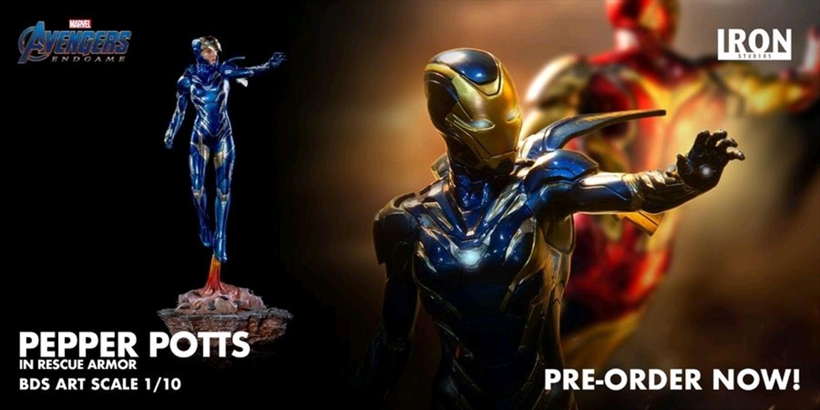 Avengers 4: Endgame - Pepper Potts in Rescue Armor 1:10 Scale Statue | Merchandise
