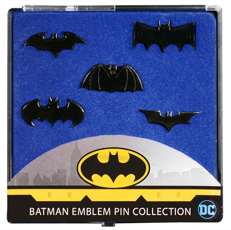 Batman - Batman Emblem Black Chrome Pin Collection | Merchandise