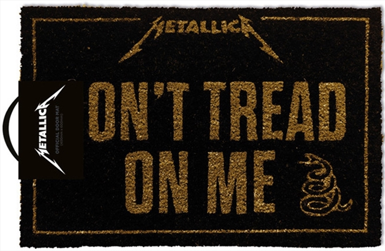 Metallica Doormat - Dont Tread On Me | Merchandise