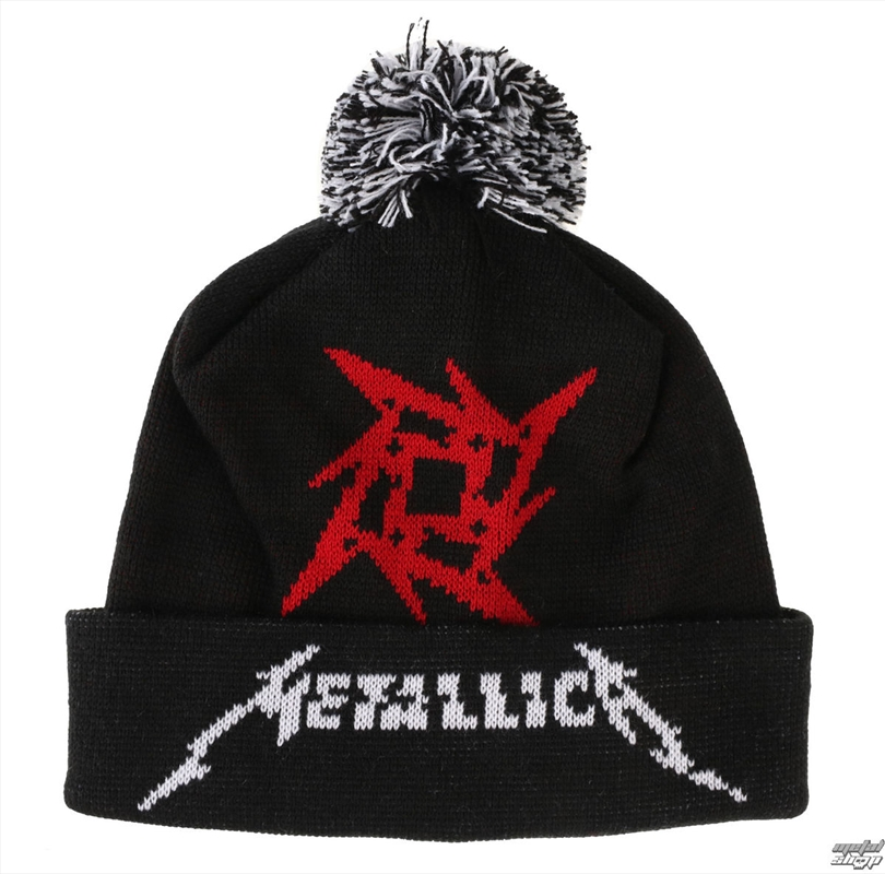 Metallica Bobble Hat - Glitch Star Logo | Apparel
