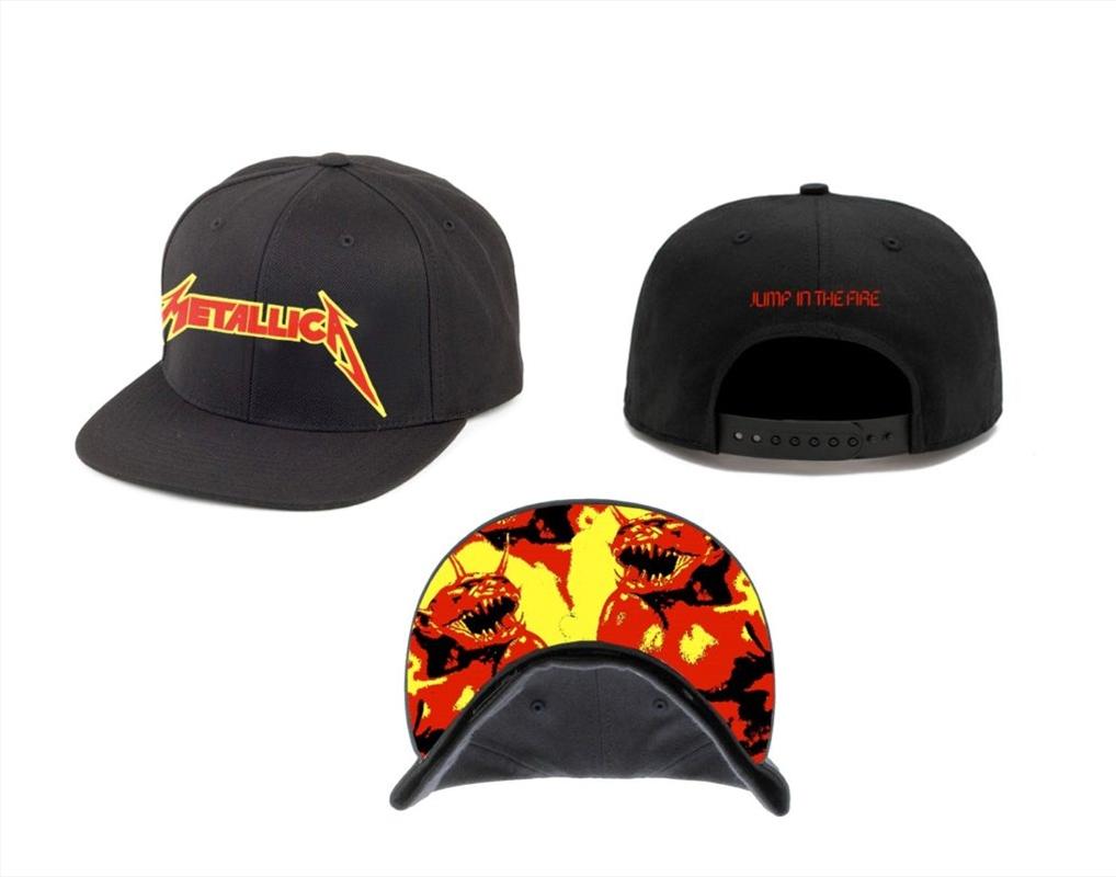Metallica Jump In The Fire: Snapback Hat | Apparel