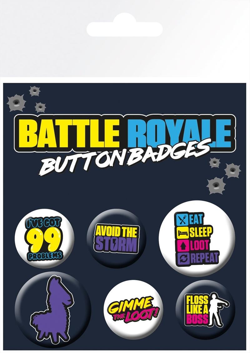 Battle Royale Badge Pack   Merchandise