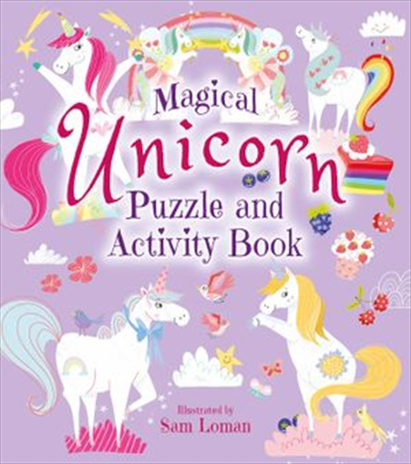Magical Unicorn Puzzle And Activity Book | Paperback Book