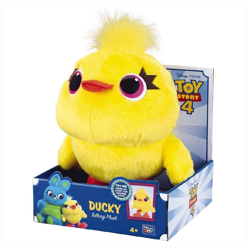 "Toy Story DUCKY Plush 9"" Deluxe Talking Toy 