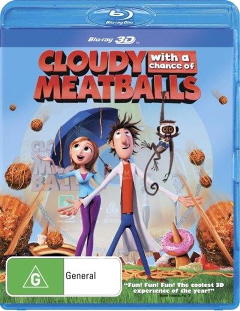 Cloudy With A Chance Of Meatballs | 3D | Blu-ray 3D