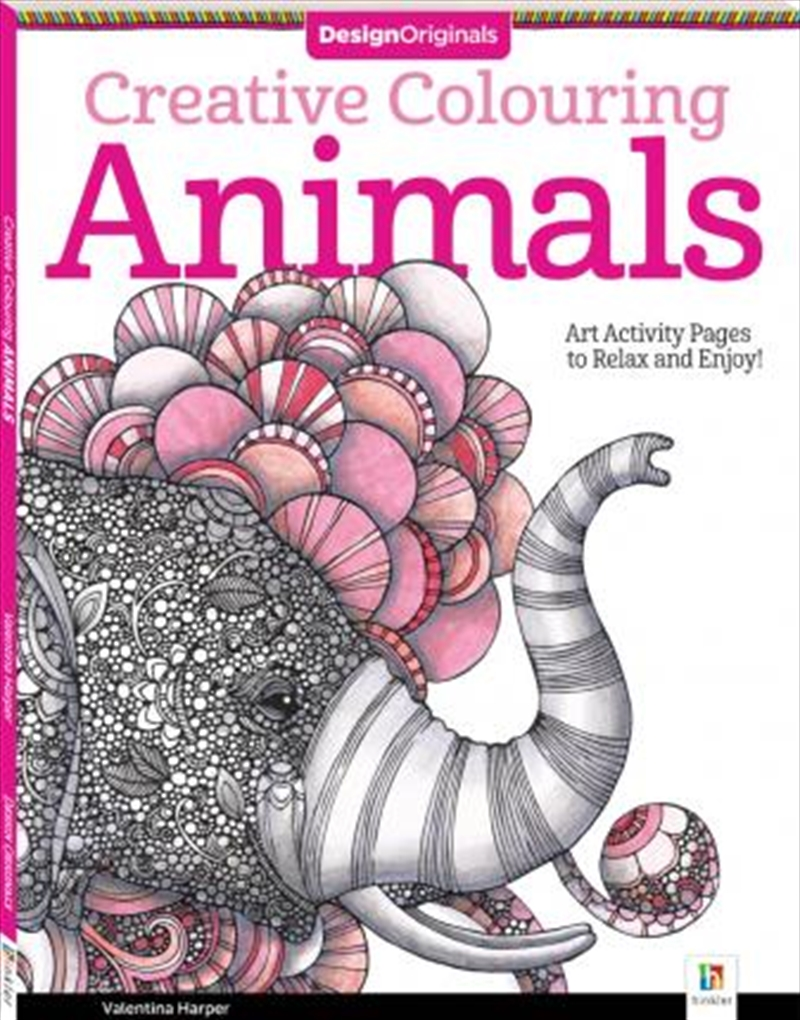 Design Originals Creative Colouring: Animals | Paperback Book