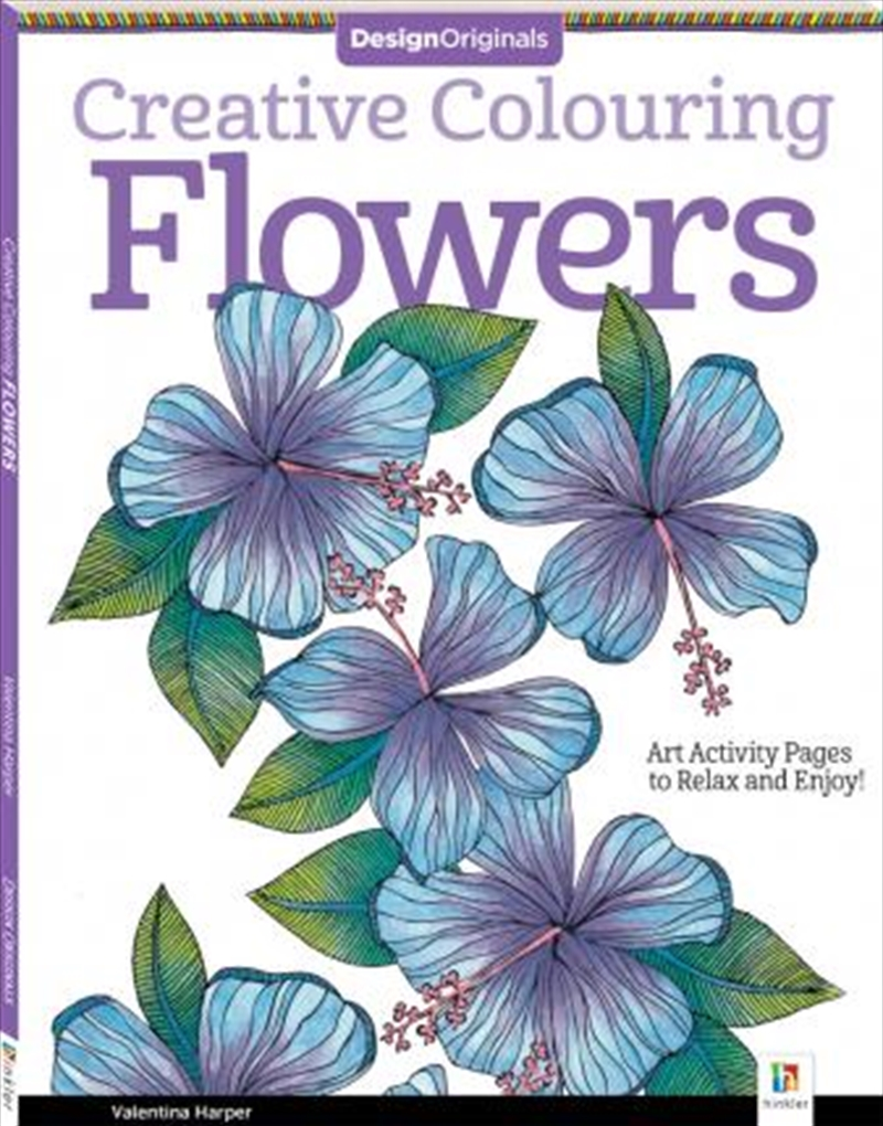 Design Originals Creative Colouring: Flowers | Paperback Book