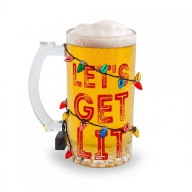Lets Get Lit Led Beer Glass | Merchandise