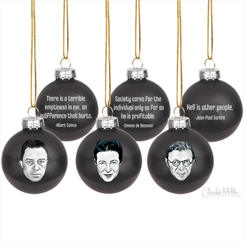 Existentialist Ornaments - Archie Mcphee | Homewares