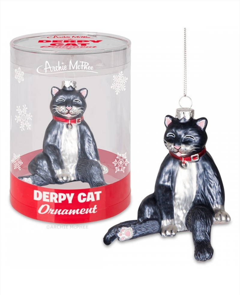 Derpy Cat Ornament - Archie McPhee | Homewares