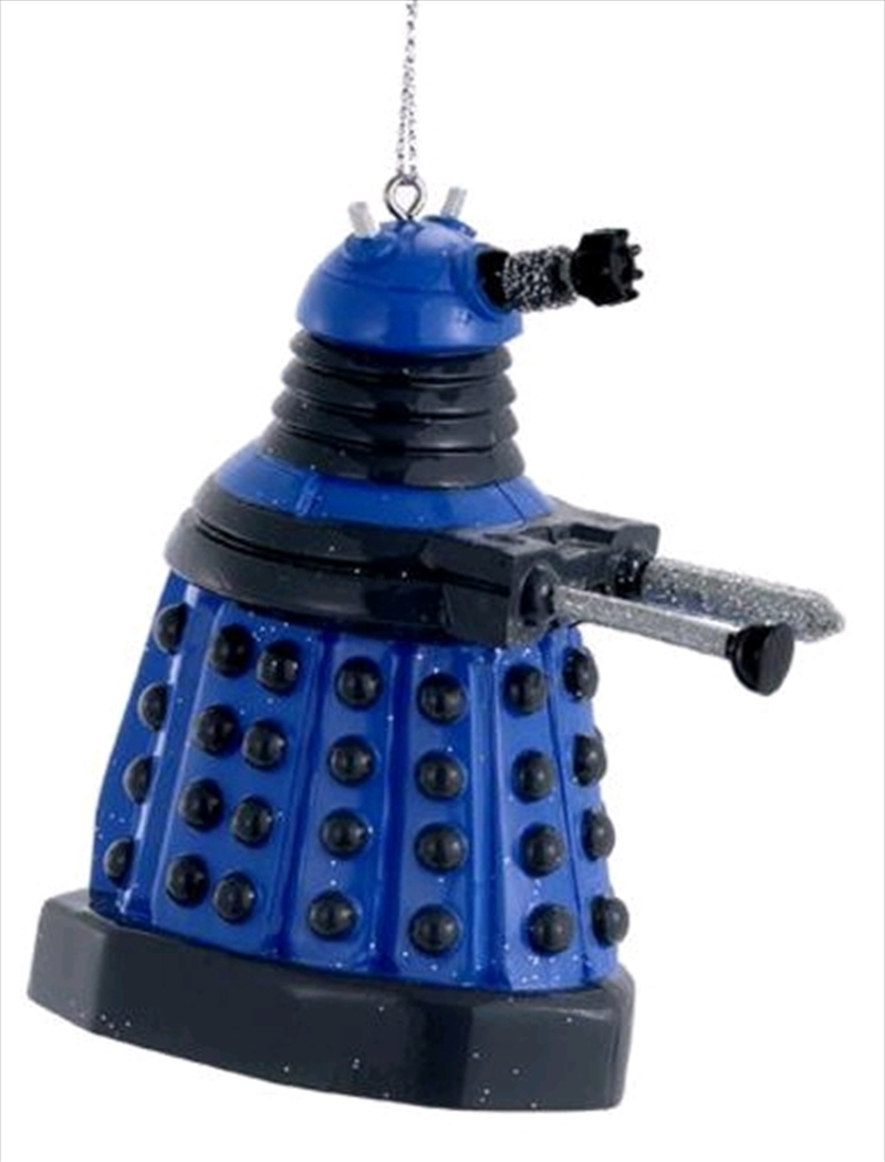 """Doctor Who - 2.5"""" Dalek (Blue) Blow Mold Christmas Ornament 