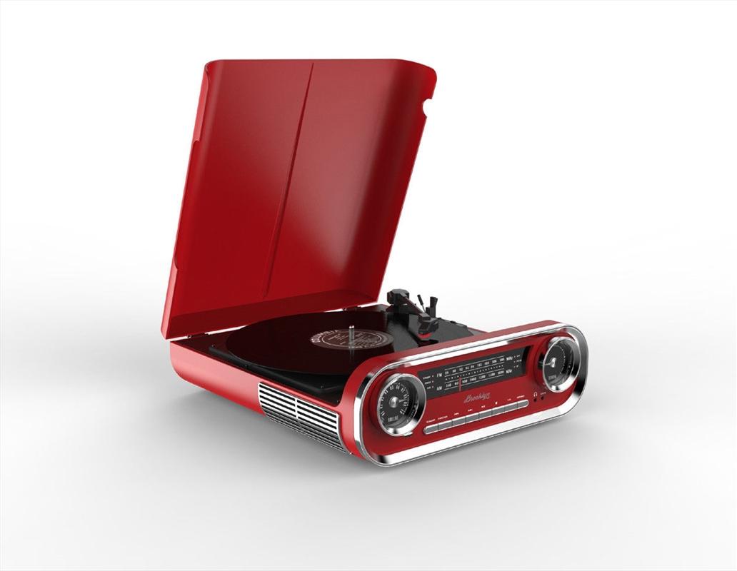 Red Retro Turntable Vinyl Player | Merchandise