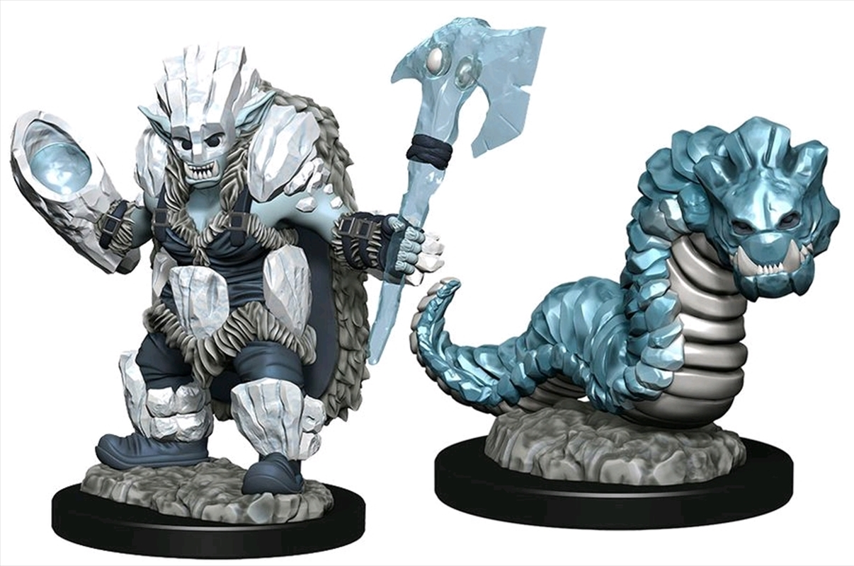 Wardlings - Ice Orc & Ice Worm Pre-Painted Mini | Games
