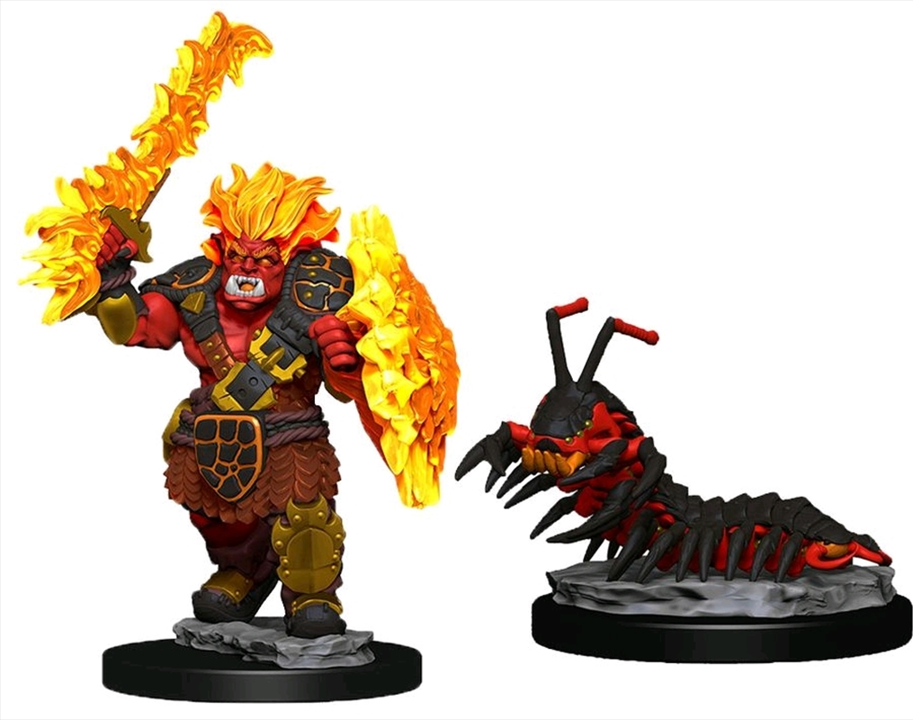Wardlings - Fire Orc & Fire Centipede Pre-Painted Mini | Games