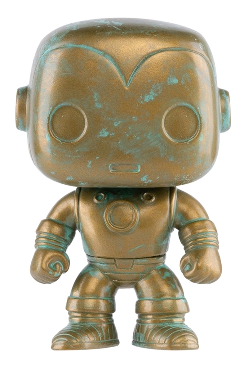 Iron Man - Marvel 80th Anniversary Patina US Exclusive Pop! Vinyl [RS] | Pop Vinyl