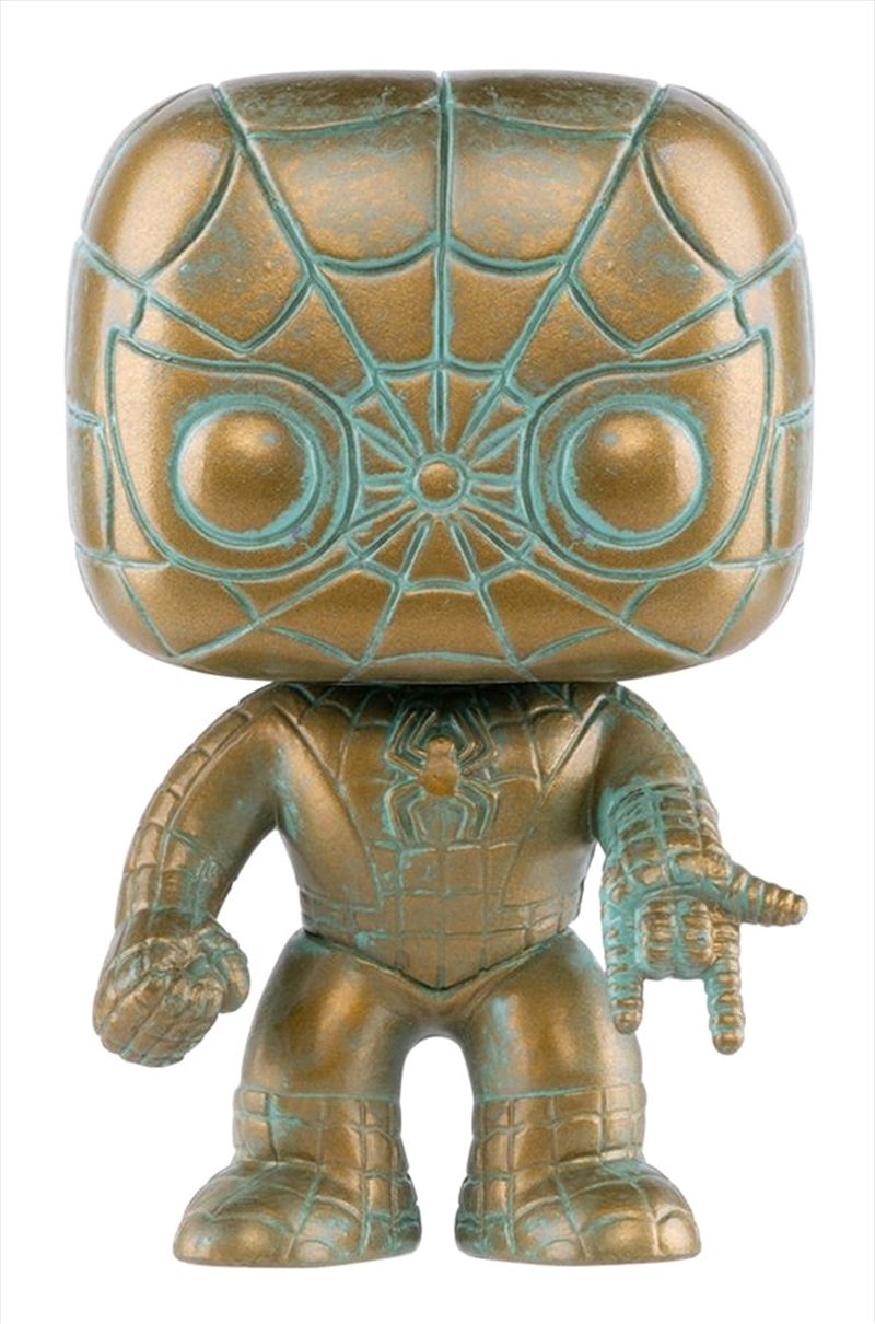 Spider-Man - Marvel 80th Anniversary Patina US Exclusive Pop! Vinyl [RS] | Pop Vinyl