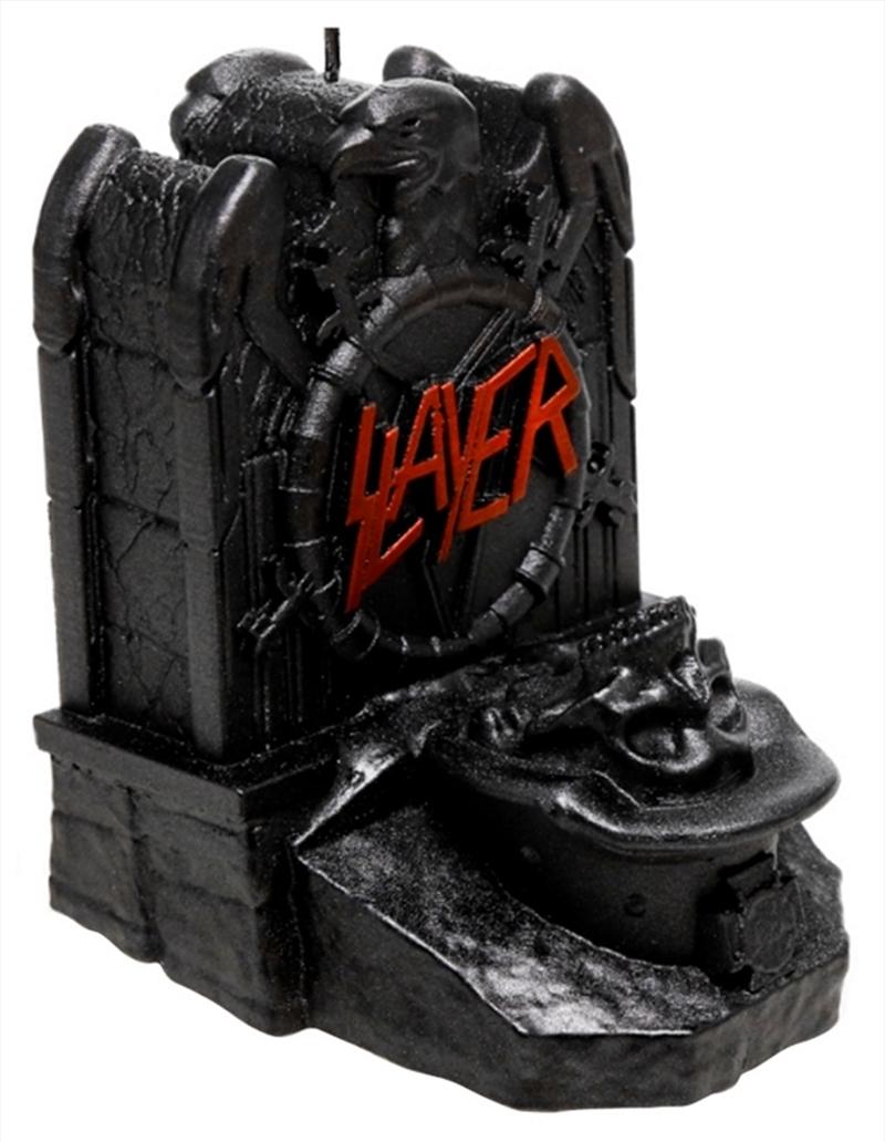 Slayer Eagle Gravestone (Metallic Black) Candle   Homewares