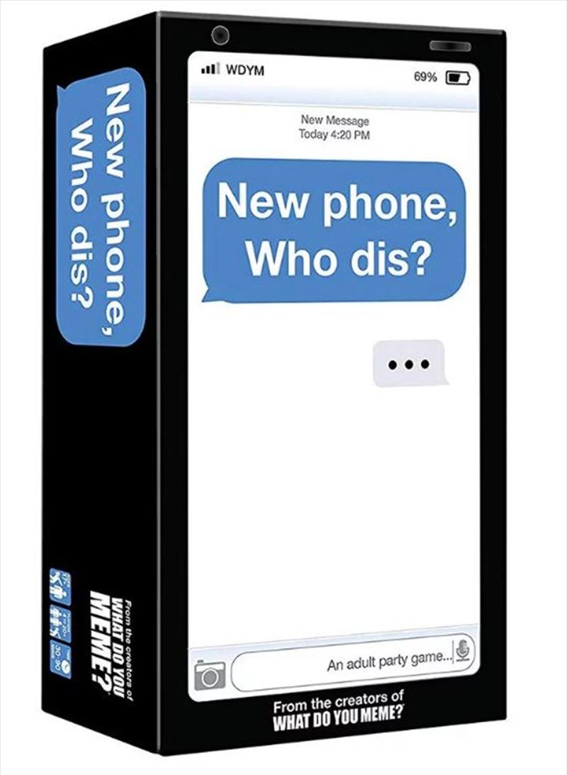 New Phone Who Dis | Merchandise