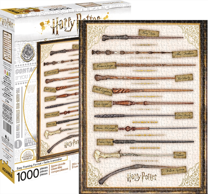 Harry Potter - Wands 1000 Piece Puzzle | Merchandise