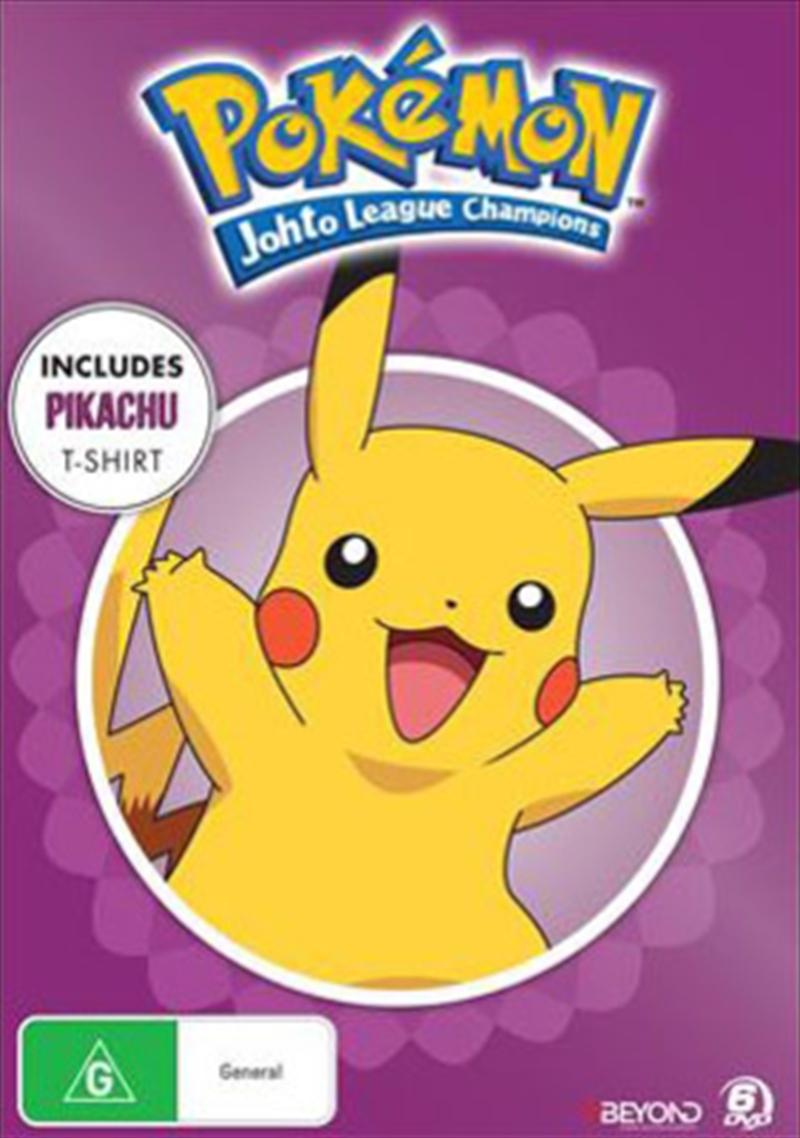Pokémon Johto League Champions - Collector's Edition Includes T-Shirt | DVD