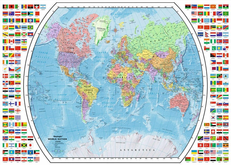 Ravensburger - Political World Map Puzzle 1000 Pieces | Merchandise