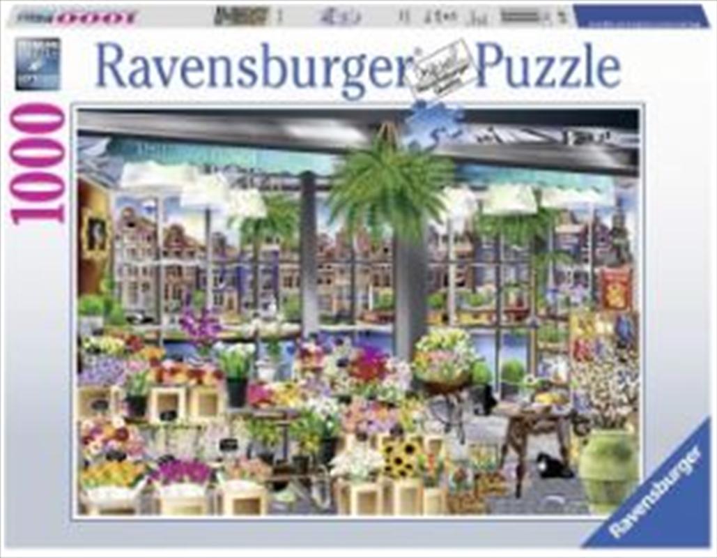 Ravensburger - Wanderlust Amsterdam Flower Market 1000 Pieces | Merchandise
