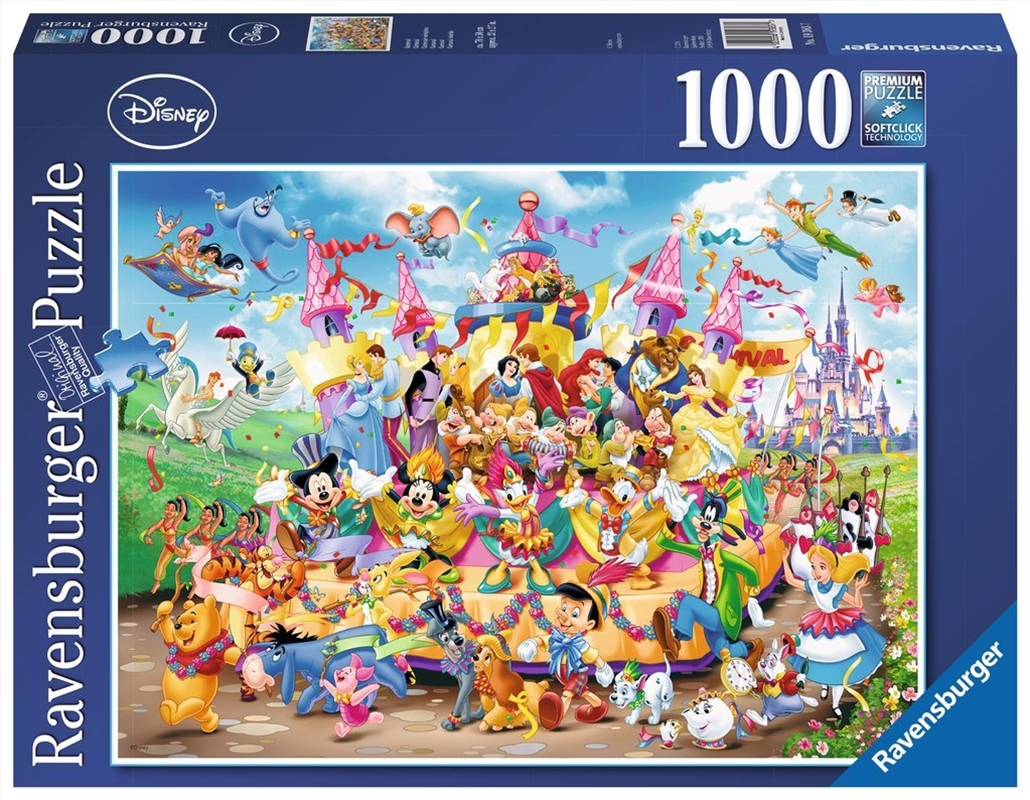 Ravensburger Disney Carnival Characters Jigsaw Puzzle 1000 Pieces   Merchandise